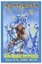 Iron Maiden *7th Tour of a 7th Tour* Irvine Poster 1988 Large Format 24x36