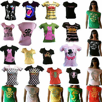 WOW Rockabilly Punk Rock Emo Fashion TOP ANGEBOT T-Shirt XS/S/M/L 34/36/38/40