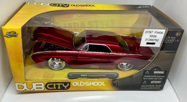 JADA TOYS - DUB CITY OLDSKOOL - 1963 THUNDERBIRD -  1/24 SCALE - NIB - RED