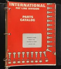 International Harvester Pay Line 125 Series C Crawler Tractor Parts Manual