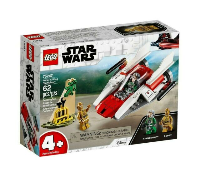 LEGO 75247 Star Wars Rebel A-Wing Starfighter (BRAND NEW SEALED)