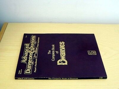 Ad&d Tsr Advanced Dungeons & Dragons 2124 The Complete Book Of Dwarves 1991