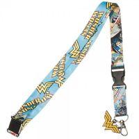 Wonder Woman Dc Comics Detachable Neck Lanyard Id Badge Holder W/ Logo Charm
