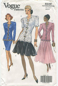 very easy Vogue 1991 Vogue Vintage pattern Size 6-8-10
