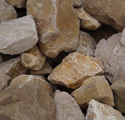 Natursteine für Gabione JURA gelb Körnung 100-200 mm 800kg Gabionen-Steine