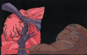 Akira-Anime-Cel-Douga-Animation-Art-Mutated-Tetsuo-at-Stadium-Otomo-1988