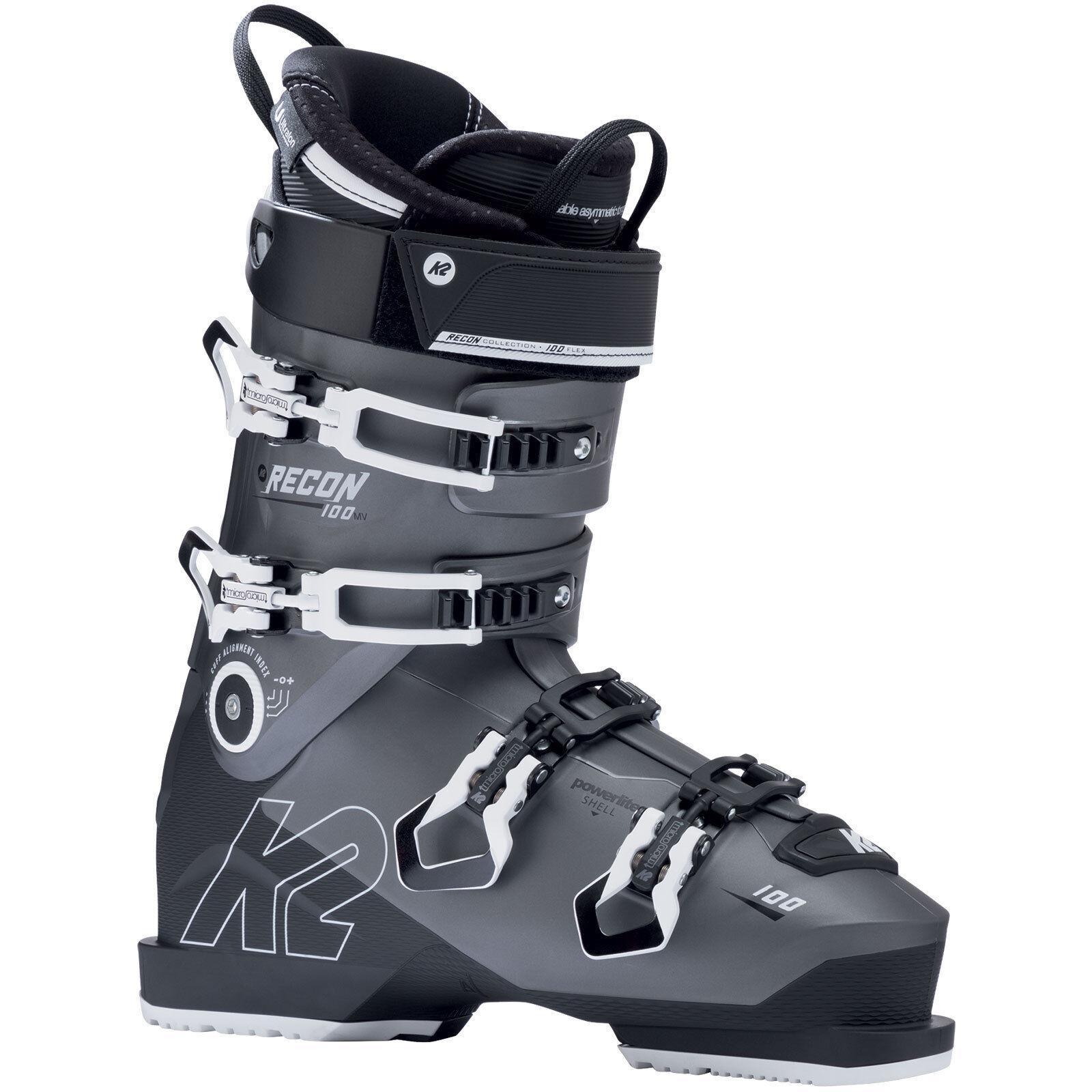 K2 Recon 100 Mv Ski Boots Ski Boots Ski Boots All-Mountain 4-schnallen Men's