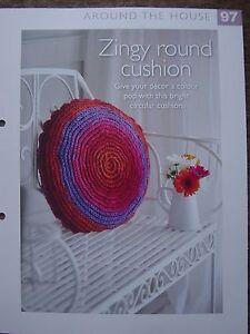 Crochet Zingy Pattern : Zingy Round Cushion Crochet Pattern The Art of Crochet ...