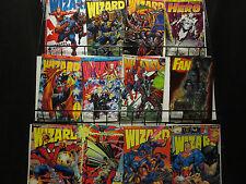 Wizard Magazine lot of 46 + Hero + Overstreet Fan + Cavalcade Catalog 90s + 2009