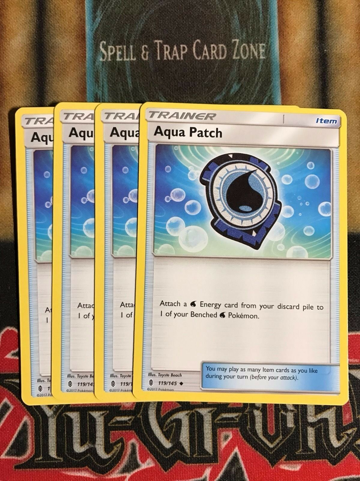 Pokemon Playset Of 4x Aqua Patch 119//145