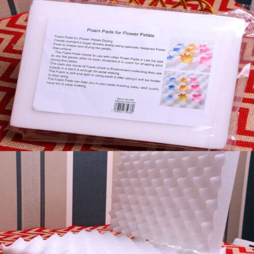 2Pcs mousse sèche Pads Séchage éponge Tapis Gâteau Fondant Sucre Fleur À faire soi-même Cuisine Outil