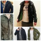 New Abercrombie & Fitch Mens Outerwear Warrior Jacket Hoodie Fleece Sweater NWT