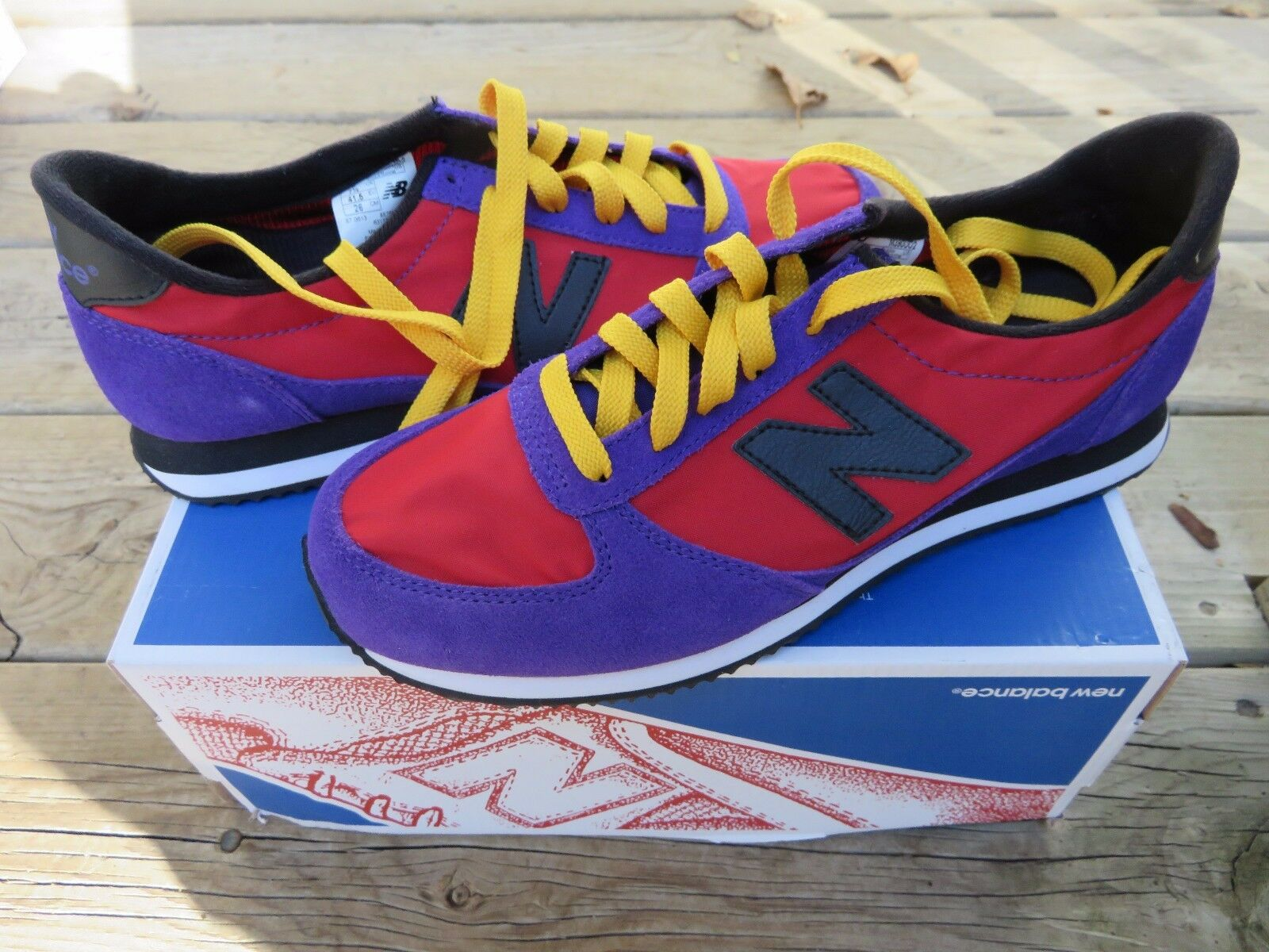 NEW Men's New Balance Casual Athletic shoes Size 8 Red Purple Athletic shoes