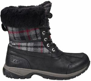 c4f3fcaee3f Details about UGG Men's Butte Waterproof Snow Winter Boots Black Tartan  Plaid