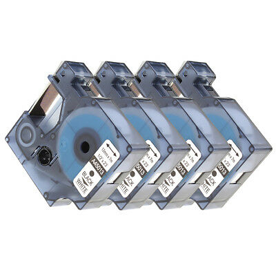 4pk Black On White Label Tape For Dymo D1 45013 1/2 X 23' S0720530 Label Manager Beautiful In Colour Label Making