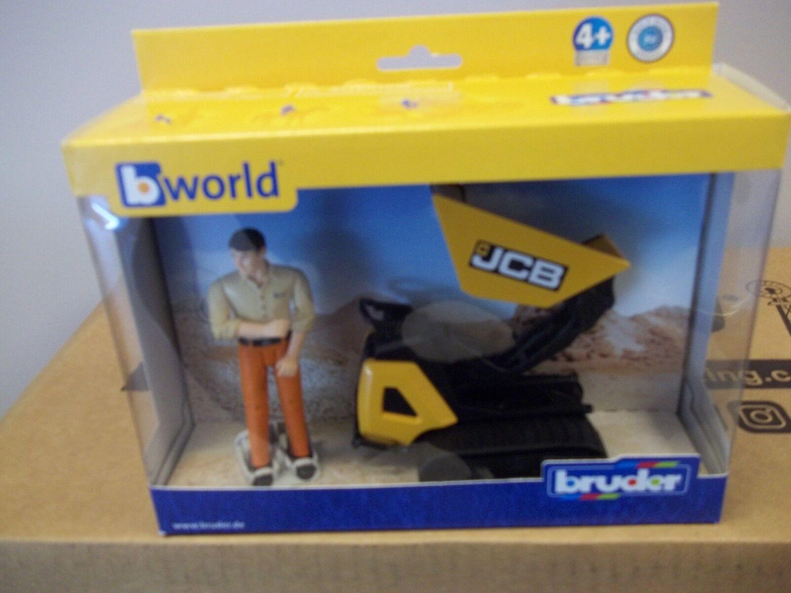 BRUDER JCB DUMPSTER HTD-5 WITH WORKER 62004