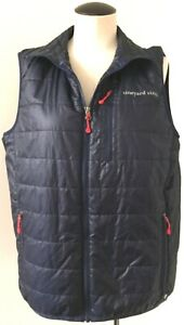 VINEYARD-VINES-MENS-BLUE-QUILTED-NYLON-VEST-NOT-DOWN-POLYESTER-INSULATING-FILL-S