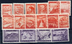 AUSTRIA-1947-Landscape-definitives-in-changed-colours-MNH
