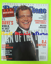 ROLLING STONE USA MAGAZINE 698/1994 David Letterman Chris Cornell Ron Wood No cd