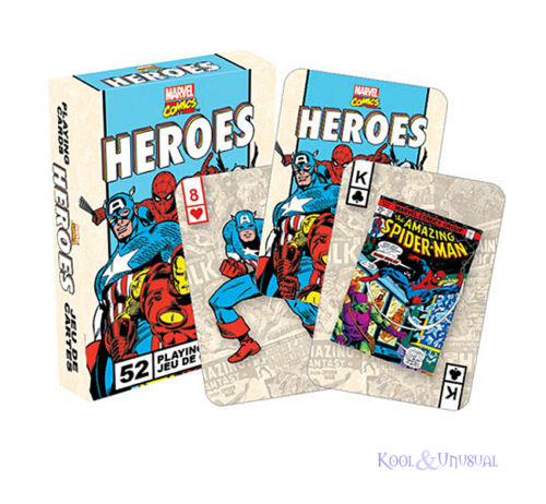 Retro MARVEL COMICS HEROES Set of Playing Cards
