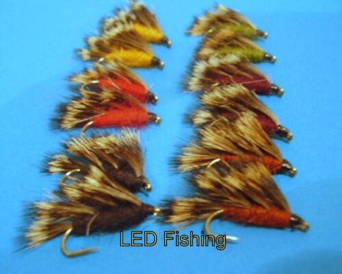 Deerhair Sedgehog Fishing Flies #10 by Aquastrong 44