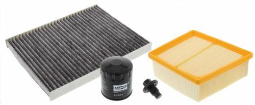 FORD FIESTA VI 1.25 1.4 1.6 Filtre à air Filtre à huile Intérieur Filtre ölablasschraube