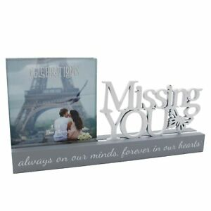 Grey-Wooden-Mantel-Word-Plaque-Photo-Frame-Missing-You