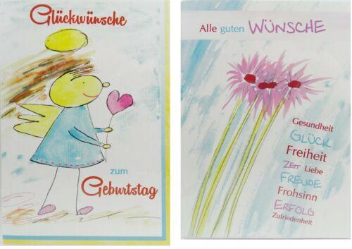 """RSC Artiste-Carte de voeux /""""Ange//SOUHAITS//CŒUR/"""" Anniversaire Félicitations Carte"""