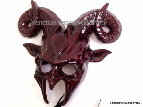 VENETIAN Halloween Masquerade Goat Mask Costume Animal Horns Cosplay Party Prom