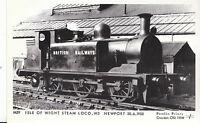 Railway Postcard - Train - Isle of Wight Steam Loco W3 - Newport 1950 -  V2222