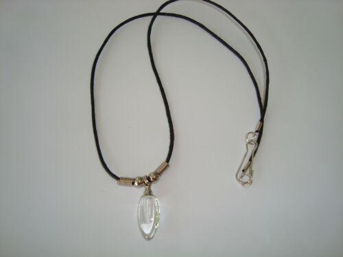 pink Crystal tear drop vial urn pendant ashes cremains keepsake necklace DIY