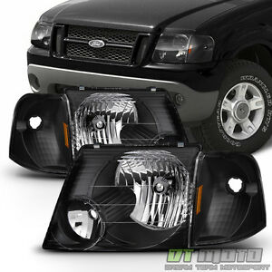 black 2002 2005 ford explorer headlights corner signal. Black Bedroom Furniture Sets. Home Design Ideas
