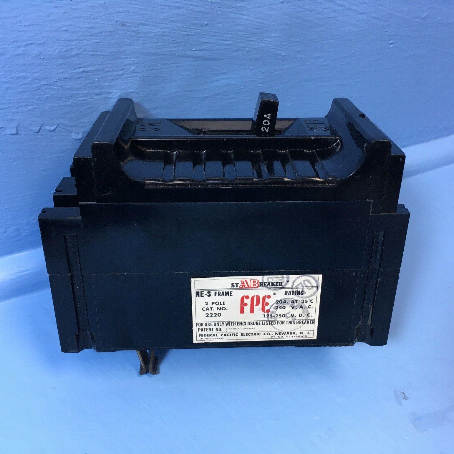 "NE113020 Federal Pacific FPE Circuit Breaker 1 Pole 20 A 120V /""2 YEAR WARRANTY/"""