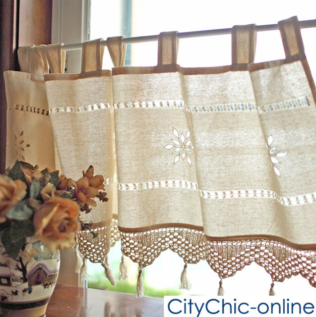 Country Style French Provincial Home Kitchen Linen Embroidery Cafe Curtain