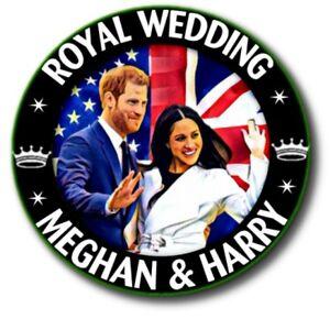 PRINCE HARRY~MEGHAN BUTTON BADGE~ FABULOUS ROYAL WEDDING SOUVENIR