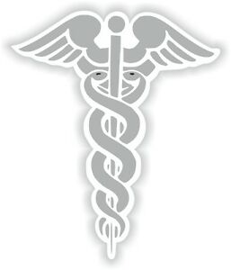 1x-Grey-Caduceus-Sticker-Medical-Pharmacy-Symbol-Doctor-03