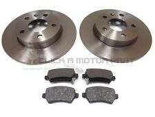 VAUXHALL ASTRA H (MK5) 2004-2009 REAR 2 BRAKE DISCS AND PADS SET NEW 5 STUD ONLY