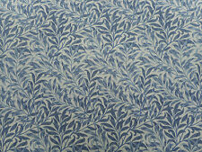"William MORRIS Curtain Fabric ""Willow boughs minori"" 1,2 metri (120 cm) BLU"