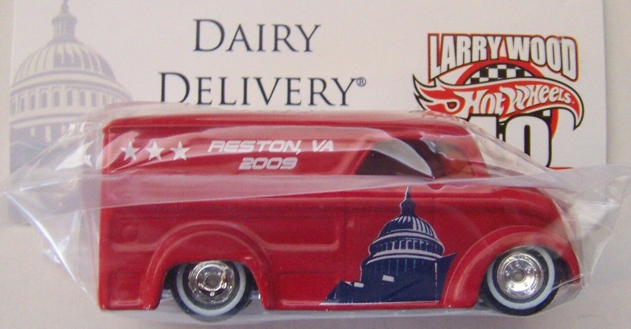 Hot Wheels 2009 9th Collectors Nationals Larry Larry Larry Wood Dairy Delivery Baggie R R d839d0