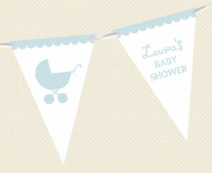 PERSONALISED-BABY-SHOWER-PRAM-BUNTING-BANNER-PARTY-DECORATION-MIXED-BOY-amp-GIRL
