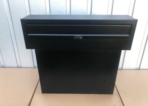 BLACK XXL HUGE MAIL Post Box for Gates and Fences FAST DELIVERY