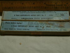 6pt Copperplate Gothic Light 2 Amp 3 Letterpress Type Atf 128 Fig Fonts Only