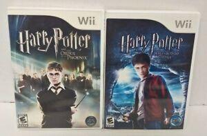 Nintendo Wii Wii U Games LOT Harry Potter Order Phoenix + Half-Blood - Working