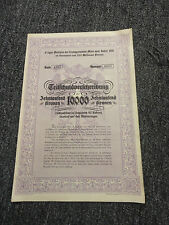 (535)-1908-1918 Austria Certificate Stock Bond 200-10000  With Coupons Stamps