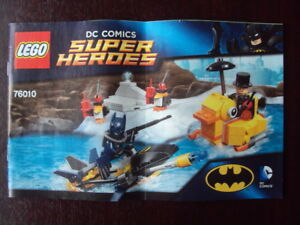 LEGO INSTRUCTIONS BOOKS 76010 BATMAN PENGUIN FACE OFF VGC  FREE UK POST