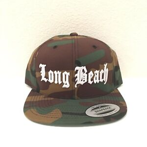 5bc9058c531 Image is loading Long-Beach-Cap-Yupoong-Classic-Snapback-Hat-Custom-