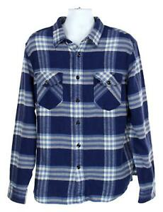 1d8280b99f0b2 J Crew Wallace   Barnes Men s Shirt Heavyweight Flannel Med Blue S ...