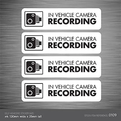 SKU102 Dashcam In Vehicle Camera Recording Car Sign Sticker CCTV Go Pro