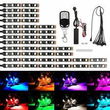 12pcs Motorcycle Rgb 120led Waterproof Under Glow Lights Strip Neon Kit Remote