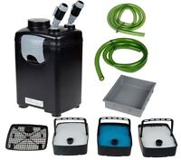 3 Stage External Fish Canister Filter Power Pump For Aquarium Pond Tank 265 Gph on sale